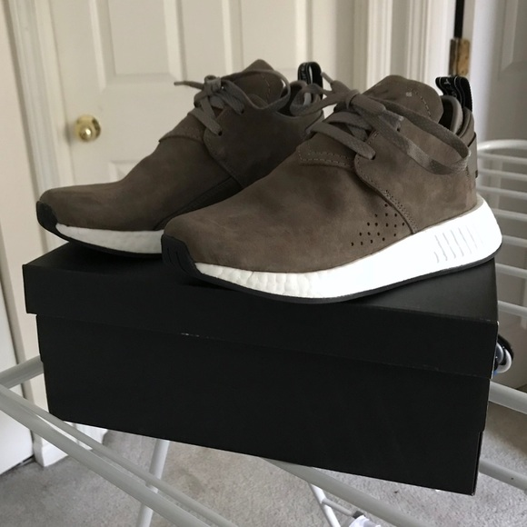 fa8ebb94658d3 adidas Shoes - Adidas NMD C2 Suede taupe brown shoes 36 NEW